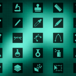 25 Technology and Science Icons PSD