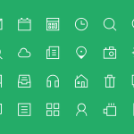 24+ Thin Icon set PSD