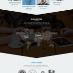 Arrow – One Page Business Portfolio Template PSD