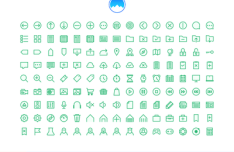135 Small Green UI Icons Vector