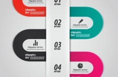 Minimal Infographics Data Option Elements Vector 03