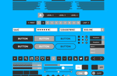 Kita3 Wireframe & Mockup UI Kit PSD