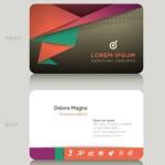 Modern Geometric Business Card Template Vector