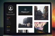 Dark Portfolio Website Template PSD