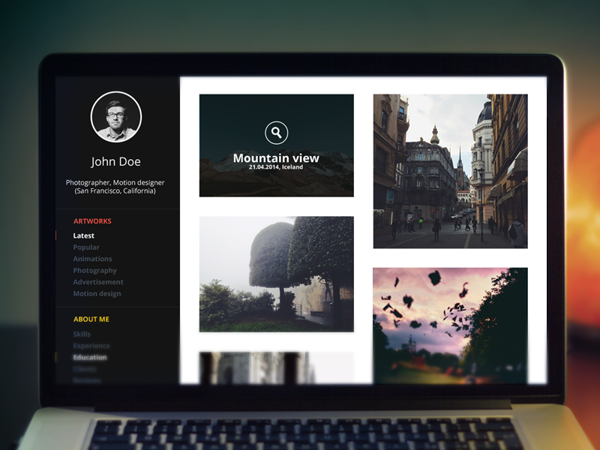 gallery graphic designer portfolio website templates