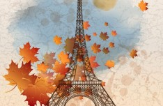 Autumn Eiffel Tower Paris