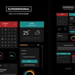 Super Minimal UI Kit PSD 02