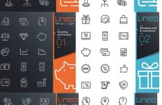 Outline Icons Collection Vector
