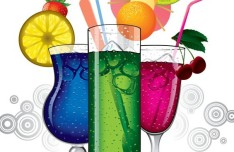 Colorful Summer Juices Vector