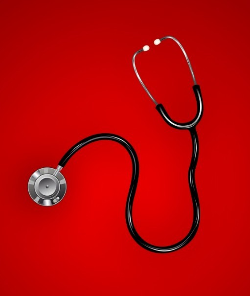 Cool Background For Health: Free Stethoscope Medical Background Vector