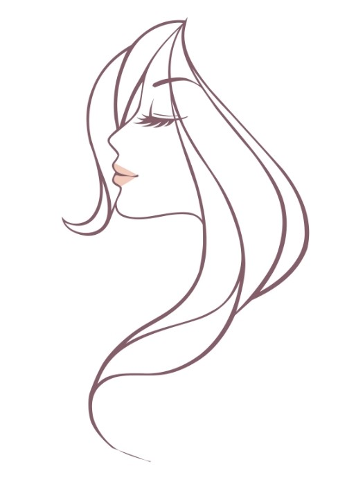Free Line Drawing Woman Face : Free beautiful woman head vector illustration titanui
