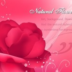 Natural Red Flower Background Vector
