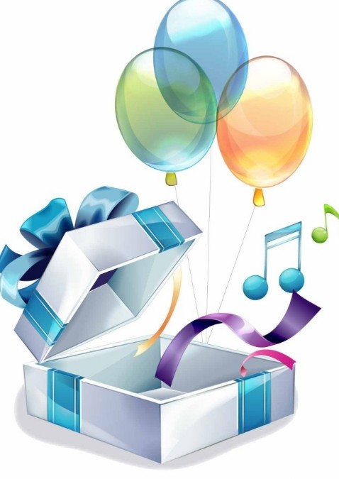 Free Colorful Balloon Gift Box Vector Titanui