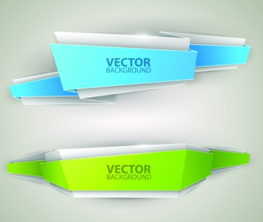 Free Creative Stylish Ribbon Banner Design Vector 03 Titanui