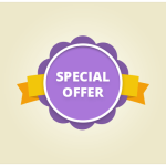 Lovely Special Offer Ribbon Badge PSD