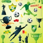 Green Soccer Design Elements Pack Vector