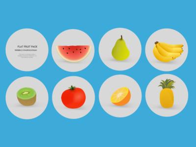 free flat cartoon fruit icon set vector   titanui