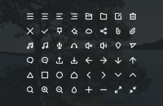 48 Stroke Icons PSD