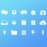 Chat and Email Icon Set PSD