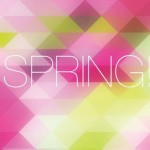 Fresh Spring Geometry Background Vector 02