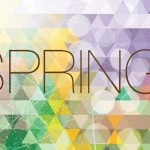 Fresh Spring Geometry Background Vector 04