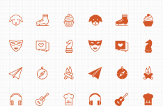 66 Free Line & Filled Leisure Activity Icons