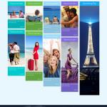 Fluid Travel Website Template PSD