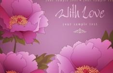 Elegant Flower Background For Romantic Event Vector 03