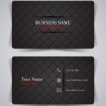 Fashion Black Grid Pattern Business Card Template Vector