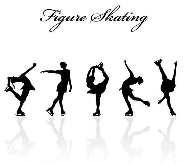 Figure Skating Silhouettes Free Figure Skating Silhouette Set