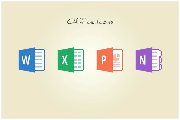 Microsoft Office Icons Vector Flat Microsoft Office Icons