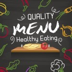 Quality Healthy Eating Menu Vector