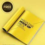 4 Realistic Magazine Mockups PSD