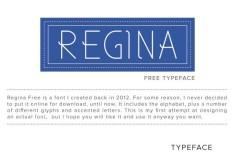 TYPE DESIGN - Regina Font