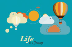 Life Is A Journey Vector Illustration