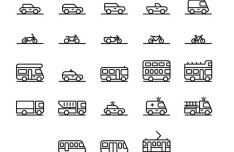 71 Traffic & Transportation Icons Vector