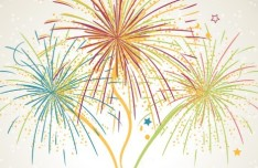 Colorful Fireworks Design Vector Art