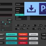 Dark Shades Web UI Kit PSD