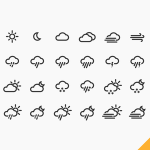 24 Weather Icons Vector