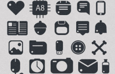37 Rounded Icons Vector