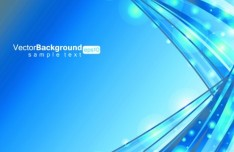 Bright Blue Waves Background Vector