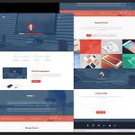 Flat Style Web Design PSD Template