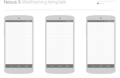 Nexus 5 Wireframing Templates PSD