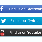 Social Button Set PSD