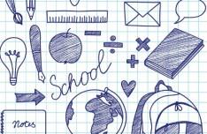 Hand Drawn School Design Elements Vector