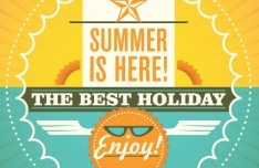 Lovely Best Summer Holiday Poster Vector