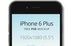 iPhone 6 Plus Dark Mockup PSD