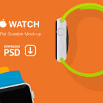 Apple Watch Flat Scalable Mockup PSD