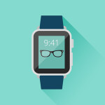 Flat Long Shadow Apple Watch PSD