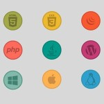 Web Technology Icons & Badges Vector